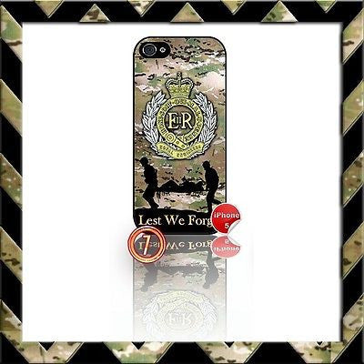 ★ THE ROYAL ENGINEERS ★ SHELL/CASE/COVER FOR IPHONE 5/5S (RE/SAPPERS) CAMO#7 - Black Halo Design