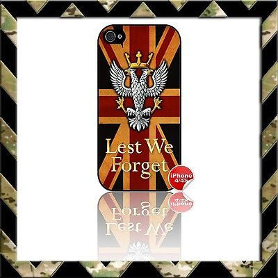 ★ THE MERCIAN REGIMENT UNION JACK (MERCS) ★ COVER FOR APPLE IPHONE 4/4S MERCIANS - Black Halo Design
