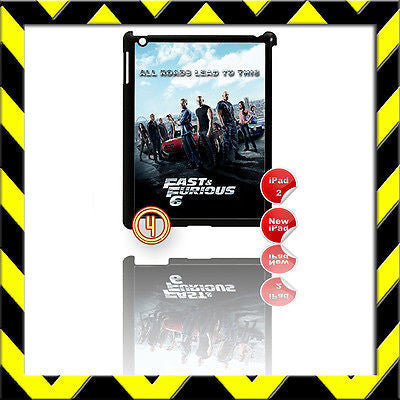 ★ FAST & (AND) FURIOUS 6 ★ SHELL/COVER FOR IPAD 2/3/4(3RD/4TH GEN) THE CREW #4 - Black Halo Design