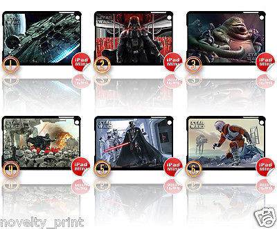 ★ NEW ★ CHOICE OF STAR WARS ★ APPLE IPAD MINI HARD CASE (STARWARS) - Black Halo Design  - 1