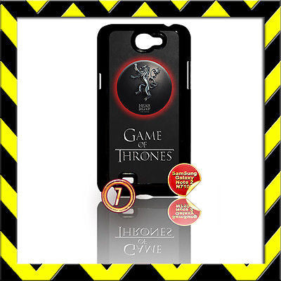 ★ GAME OF THRONES ★ FOR SAMSUNG GALAXY NOTE II/2/N7100 CASE LANNISTER LION#7 - Black Halo Design