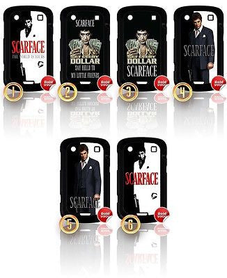 ★ SCARFACE ★ BLACKBERRY BOLD 9900 HARD CASE COVER (AL PACINO GANGSTER MOVIE) - Black Halo Design  - 1