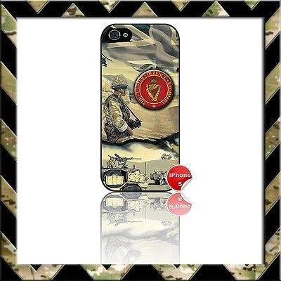 ★ ARMY ULSTER DEFENCE REGIMENT (UDR) ★ PHONE COVER FOR IPHONE 5/5S CASE NAVY/RAF - Black Halo Design