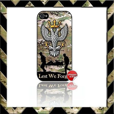 ★ THE MERCIAN REGIMENT (MERCS) SHELL/CASE/COVER FOR APPLE IPHONE 4/4S CAMO#15 - Black Halo Design