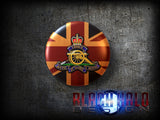 The Regiment of the Royal Artillery: Large 58mm Metal Bottle Opener Fridge Magnet - Black Halo Design  - 4