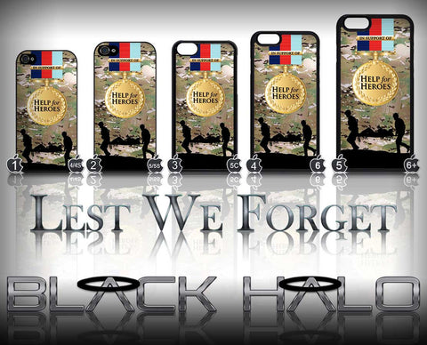 HELP FOR HEROES: MULTI-CAM ★ CASE/COVER FOR  APPLE IPHONE 4,4S,5,5S,5C,6 & 6 PLUS #ARMY - Black Halo Design