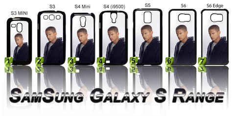 WENTWORTH MILLER CASE/COVER FOR SAMSUNG GALAXY S PHONE RANGE - Black Halo Design