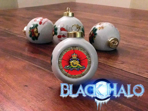 The Royal Regiment of Artillery Poppy Christmas Bauble #Army #Afghanistan