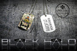 ★ CHOICE OF ARMED FORCES ★ DOG TAG NECKLACE KEYRING/KEY CHAIN (DOGTAG/H4H) - Black Halo Design  - 19