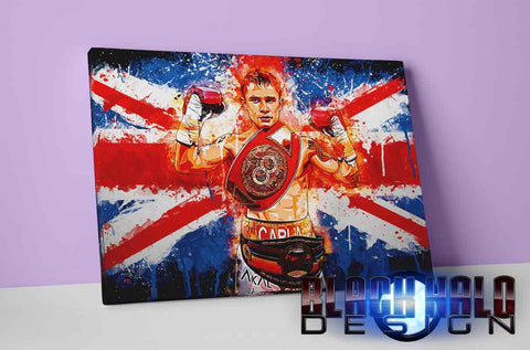 Carl Frampton: The Jackal Union Jack Box Framed Canvas #CarlFrampton #TheJackal