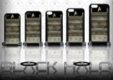 (NEW) STAR TREK COMMUNICATOR ★ CASE/COVER FOR  APPLE IPHONE 4,4S,5,5S,5C,6 & 6 PLUS - Black Halo Design  - 1