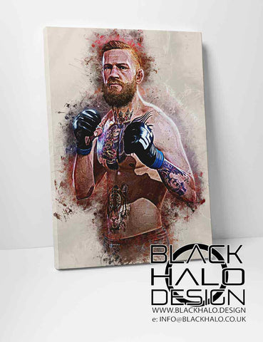 Conor McGregor Timber Framed Stretched Canvas in choice of sizes