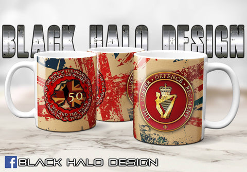 🆕 Ulster Defence Regiment (UDR) Op Banner 50th Union Jack Ceramic Mug