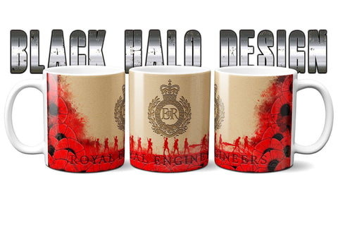 (NEW) Royal Engineers Poppy Ceramic Mug