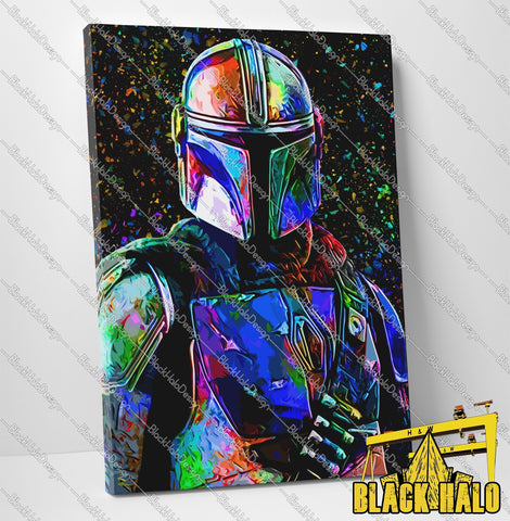 Star Wars: The Mandalorian Timber Framed Canvas