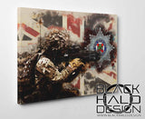 Irish Guards: Union Jack Timber Framed Canvas (Choice of Sizes)