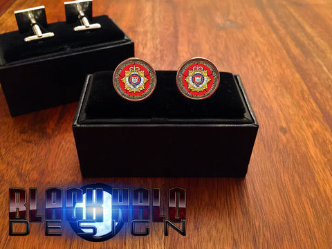 The Royal Logistic Corps Metal Cufflinks #RLC #Poppy