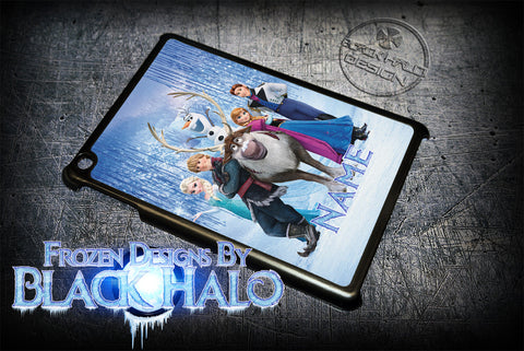 PERSONALISED FROZEN ★ CASE/COVER FOR  APPLE IPAD 2/3/4, AIR, MINI 1 & 2 - Black Halo Design