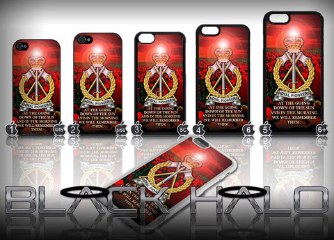Royal Pioneer Corps: Poppy Sunset Design Case for Choice of iPhone Models - Black Halo Design  - 1