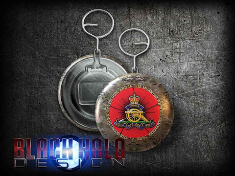 Royal Regiment of Artillery: Large 58mm Metal Bottle Opener Keyring