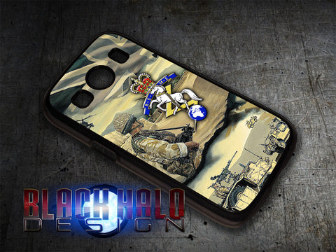 REME/R.E.M.E: Royal Electrical & Mechanical Engineers Case For Samsung Galaxy Ace 4 - Black Halo Design  - 1