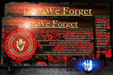 Ulster Defence Regiment (UDR): Lest We Forget Natural Rock Slate (120mm x 220mm) #POPPY
