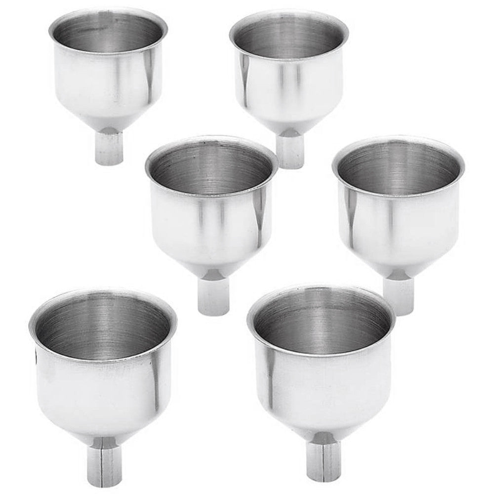 Stainless Steel Flask Funnel - 6 Set