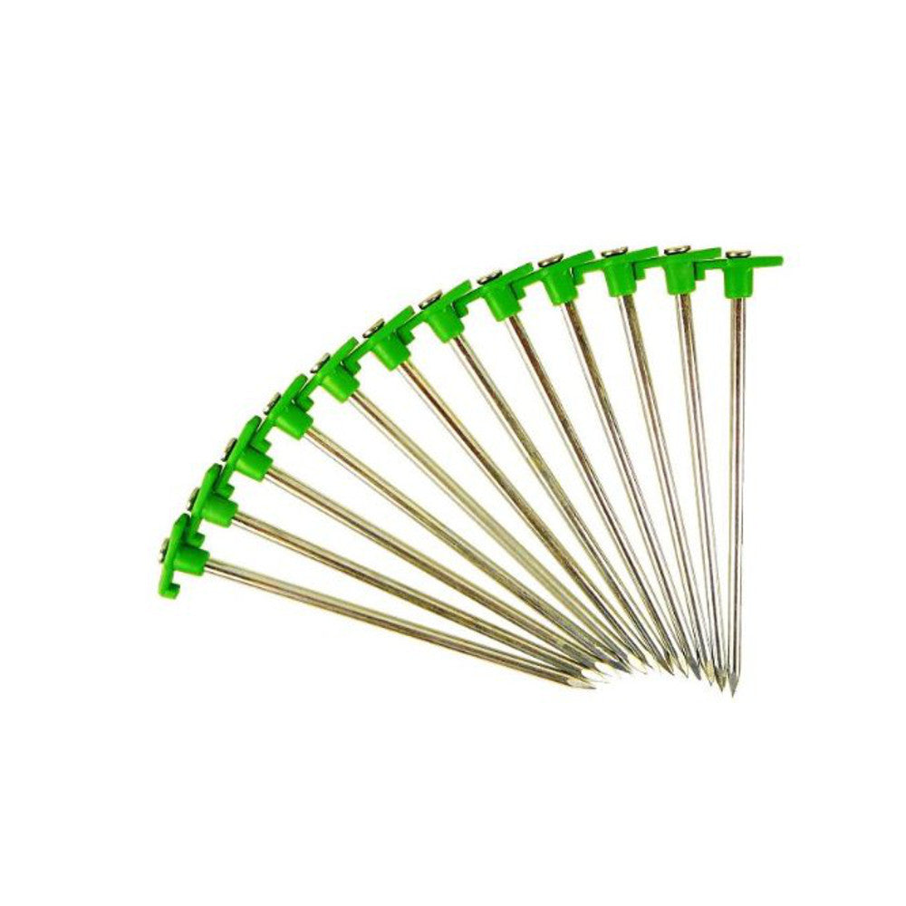Tent Stakes with Green Stoppers - 10 pack