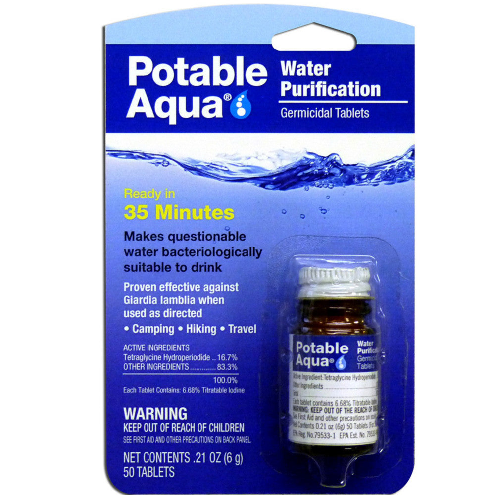 Potable Aqua Treatment Tablets
