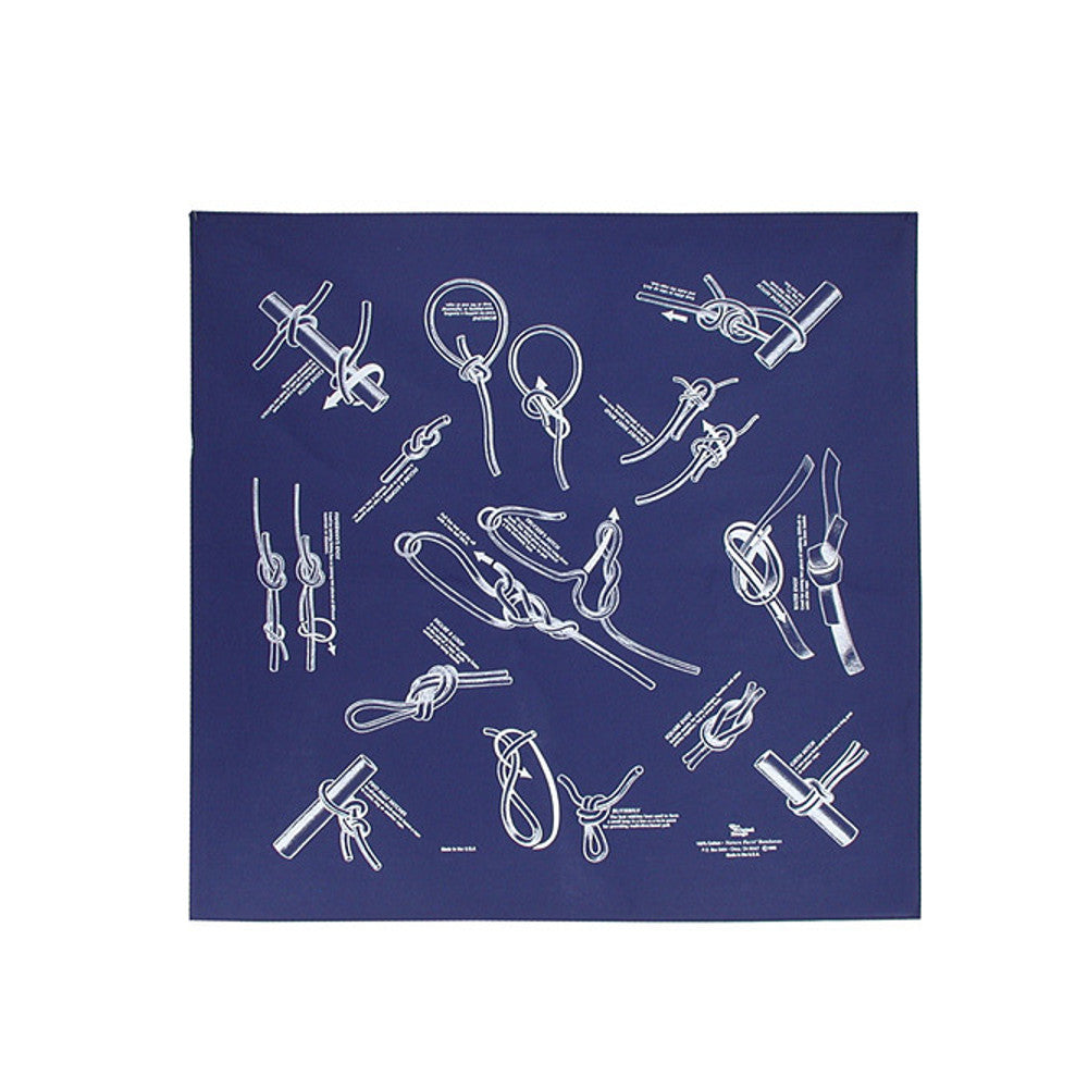 Nature Facts Bandana - Knots Blue