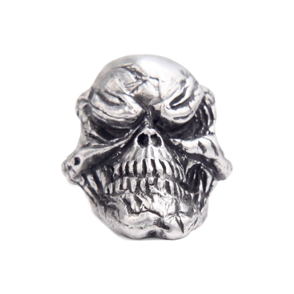 Schmuckatelli Grin Skull Pewter Bead