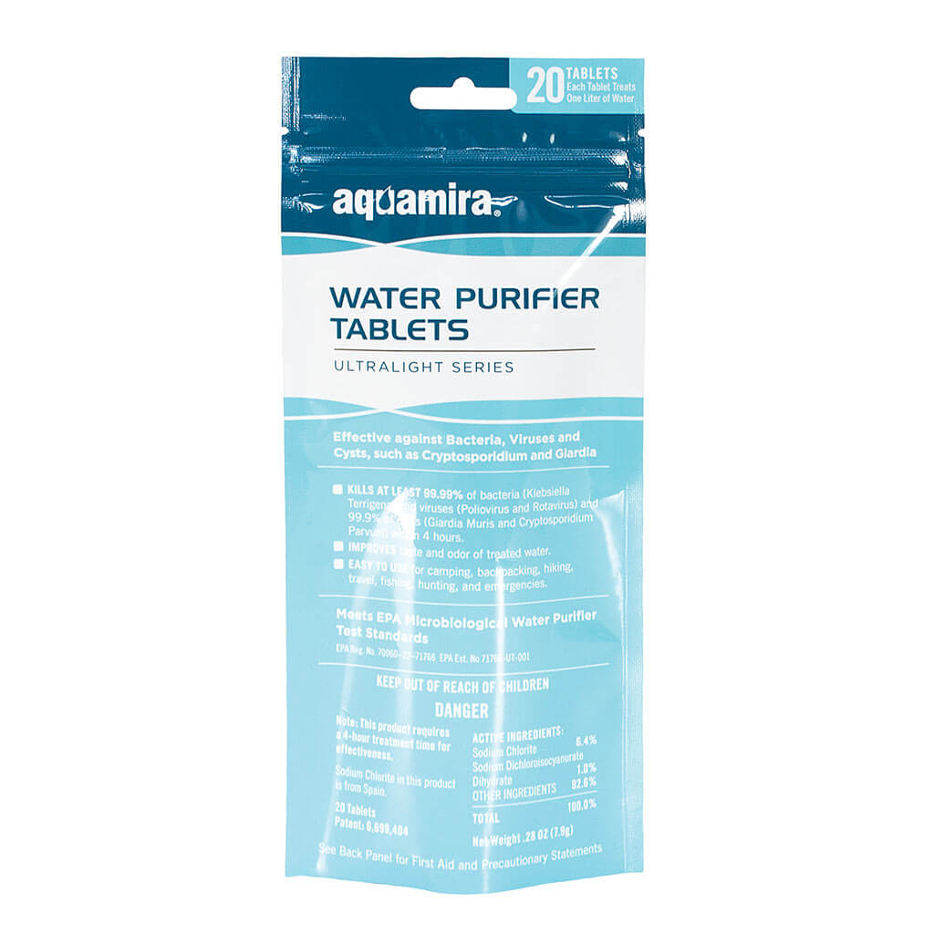 AQUAMIRA WATER PURIFICATION TABLETS 20 PACK