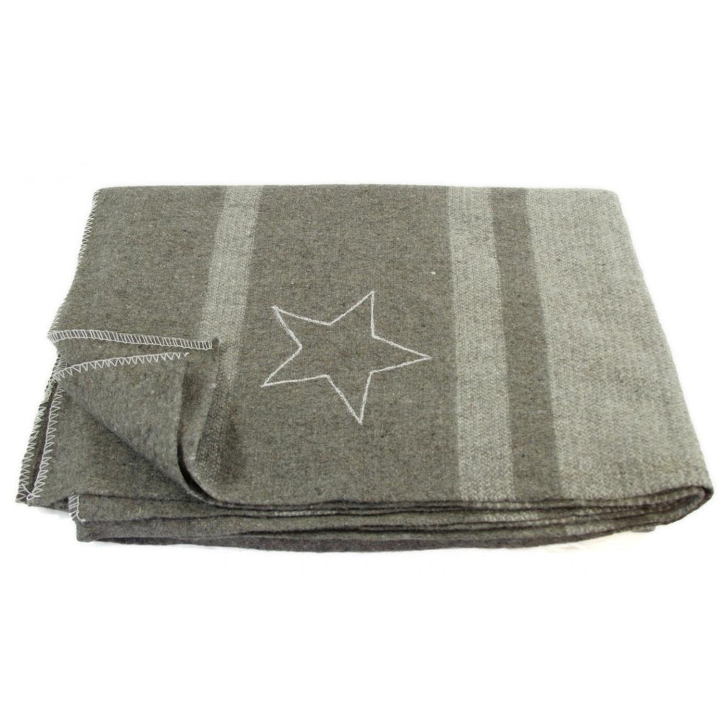 Italian Army Style Officers Wool Blanket