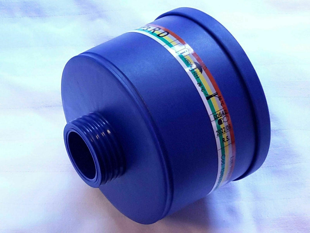 New Mestel Gas Mask Filter - 40MM NATO - Blue ABS