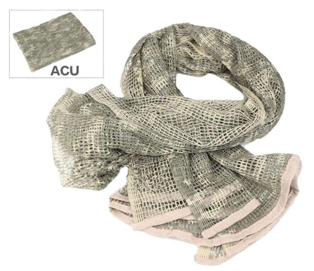 Acme Approved Camouflage Netting, Tactical Mesh Net Camo Scarf, Sniper Veil For Sports & Other Outdoor Activities