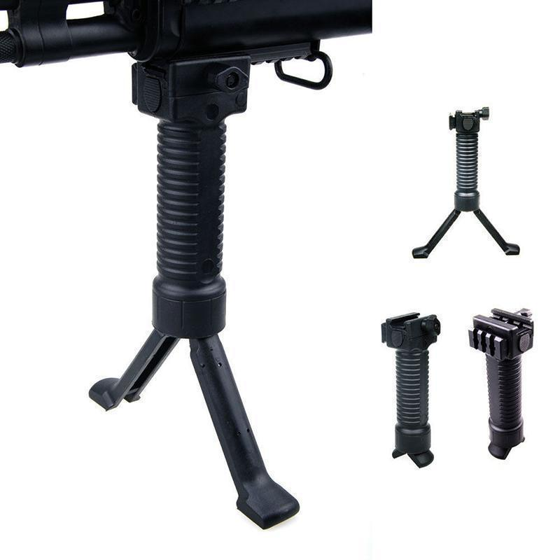 Tactical RIS Fore Grip Bipod Pod Picattinny Weaver Rail Rifle Foregrip
