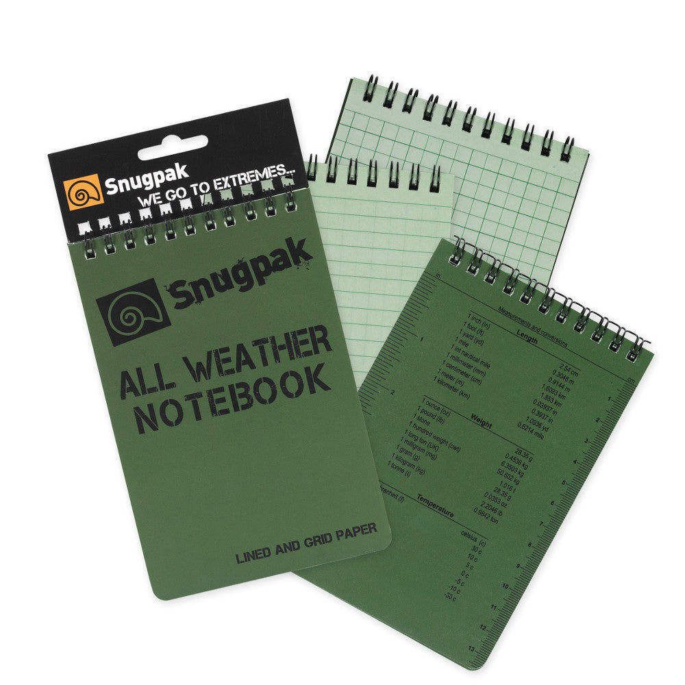 Snugpak All Weather Notebook, Small