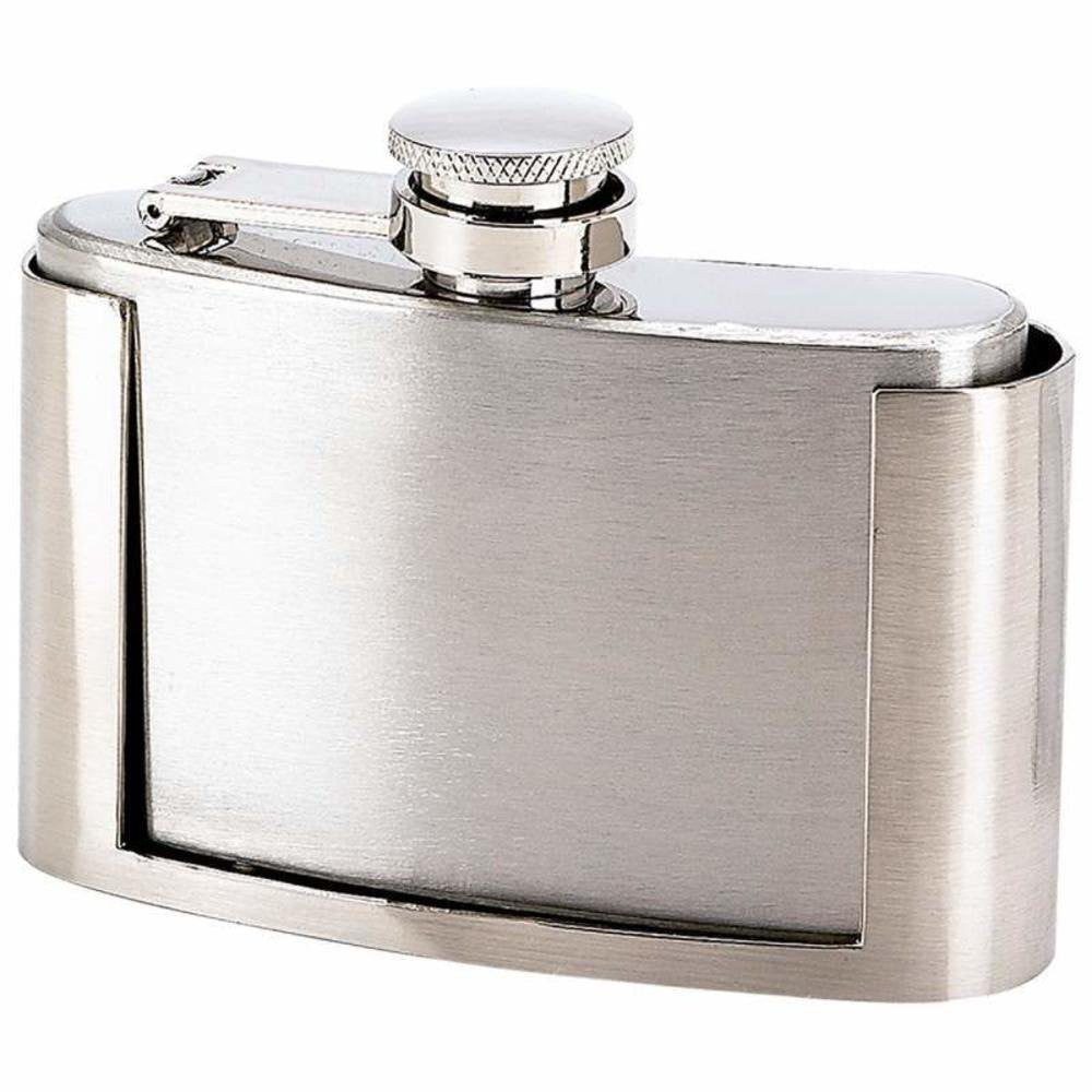 Stainless Steel Flask Belt Buckle - 3oz