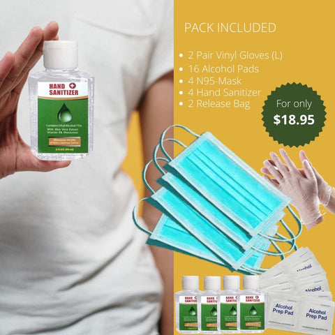 Acme Approved Multi-Pack Protective Mask and Hand Sanitizer Kit