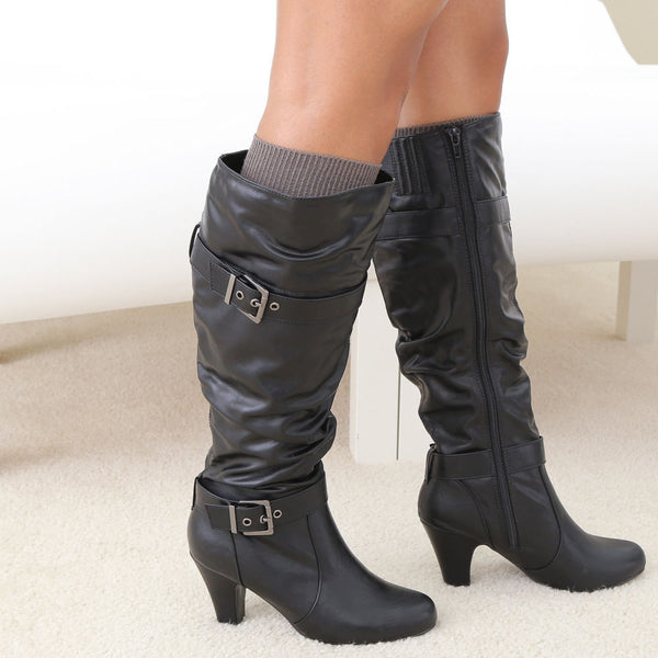 ajax-black-knee hi boots