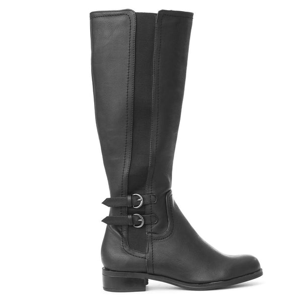 tycoon-black-knee hi boots