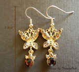 AL-35414-gold-butterfly-earring-free shipping
