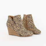 ability vegan suede wedge booties