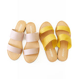allie mustard slipper sandal