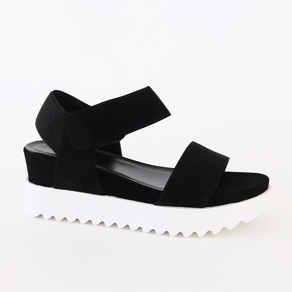 aster black athleisure sports sandal