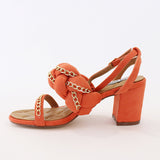 carrie-23 orange ankle strap sandal