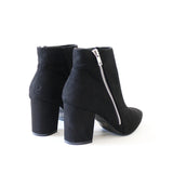 chiko-02 black vegan suede ankle boots booties