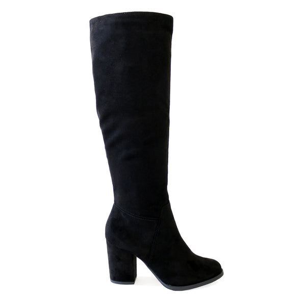 divine-black-suede-knee high boots