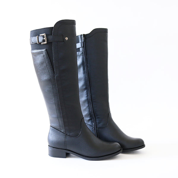 encina black riding boots