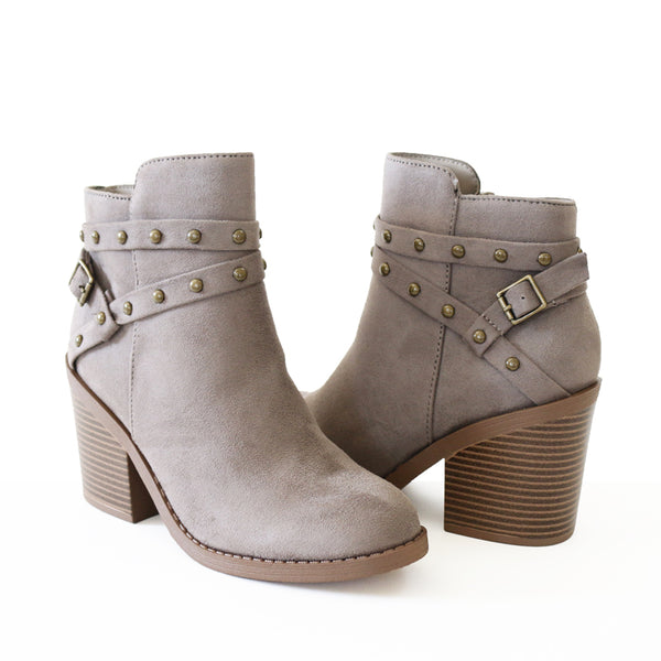fly-grey vegan suede ankle boots booties